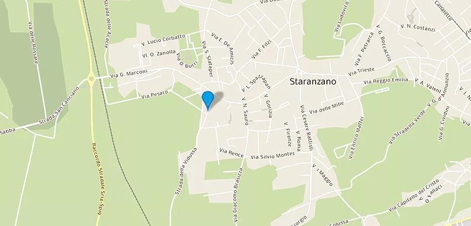 Mappa con Staranzano